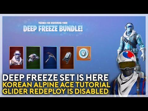 Deep Freeze Set Is Here! Possible Alpine Ace Korean? No Glider Redeploy! (Fortnite Battle Royale)