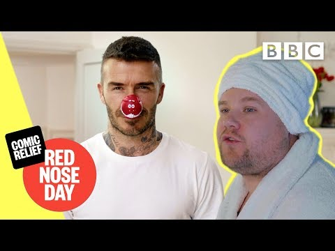 David Beckham and James Corden open Red Nose Day! - Comic Relief 2019