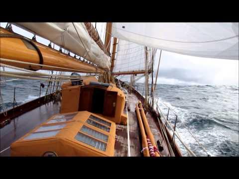"""Classic Yacht Sailing William Fife Schooner """"ADVENTURESS"""" Atlantic Ocean"""