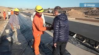 Circunvalación: Schiaretti recorrió el último tramo en construcción