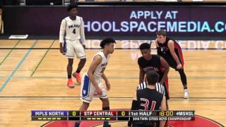 2016 twin cities boys championship minneapolis north vs st paul central