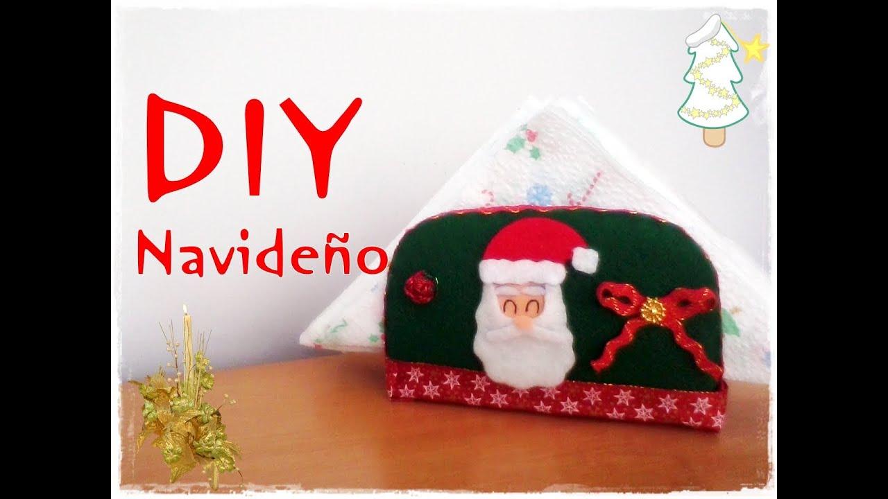 DIY NavideoPorta Servilletas YouTube