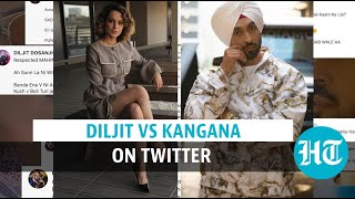 Diljit Dosanjh vs Kangana Ranaut over farmer protest | Watch Twitter war