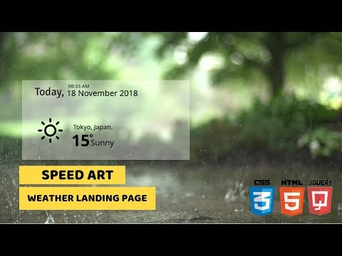 Weather Website Landing Page Design | HTML, CSS & JQuery