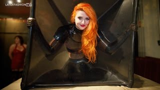 Sarah Kawaii tries Latex Bondage at Rubber Cult | LatexFashionTV
