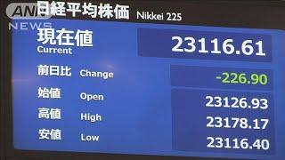 新型肺炎リスクで株安 日経平均200円以上下落(20/01/28)