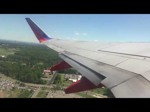 HD Southwest Airlines takeoff from Albany ALB Airport