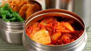 Stir-fried kimchi dosirak (Kimchi-bokkeum lunchbox: 김치볶음 도시락)