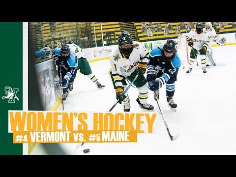 Women's Hockey: Hockey East Quarterfinals - (5) Maine vs. (4) Vermont (2/28/21)
