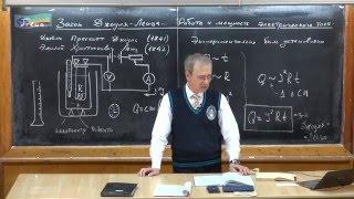 Урок 254. Закон Джоуля-Ленца. Работа и мощность электрического тока