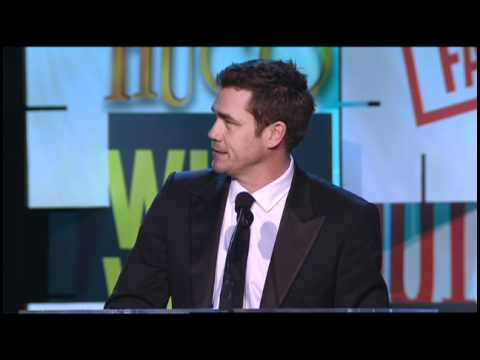The Help's Tate Taylor Accepts The 2012 WGAW Paul Selvin Award From Viola Davis & Octavia Spencer