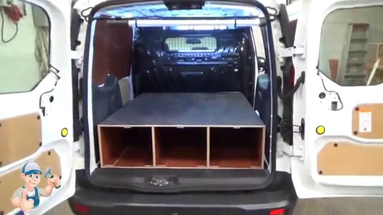 Bedrijfswageninrichting Ford Transit Connect   Bedrijfswagen en Bus Betimmering   Teus   YouTube