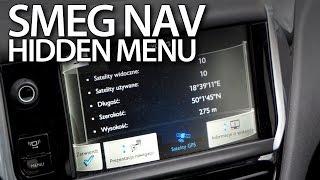 SMEG navigation hidden menu in Citroen and Peugeot