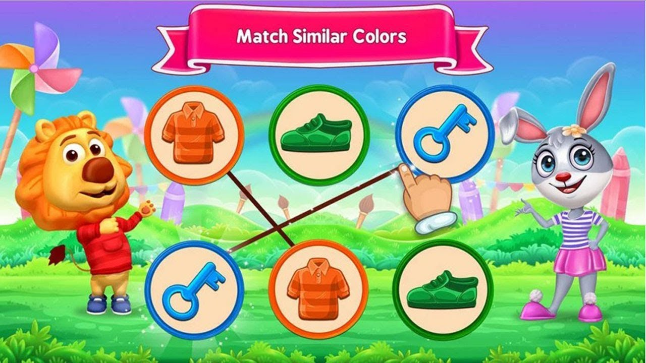 Match The Items With Same Color - Kids Learn Colors - Rv Appstudio - YouTube