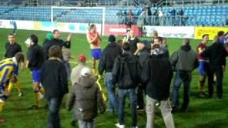 Slezský FC Opava - FC Viktoria Plzeň Ondrášovka Cup (závěr děkovačky)