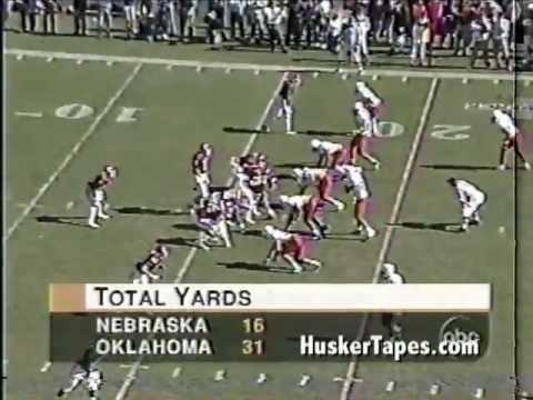 Jay Foreman 1-handed interception 1996 vs Oklahoma with Radio Audio