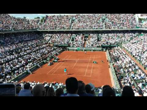 Stan Wawrinka vs Andy Murray 9/6/2017 semi final match point