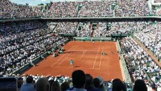 Stan Wawrinka vs Andy Murray 9/6/2017 semi final match point