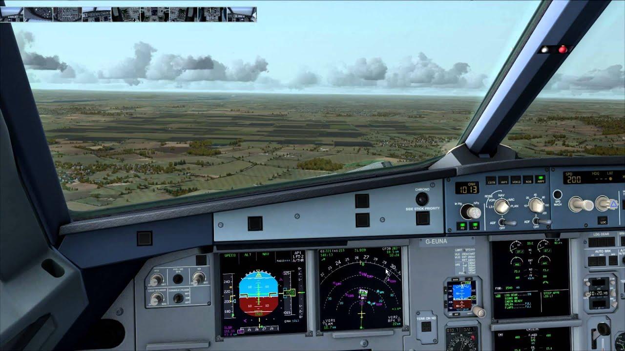 fsx p3d aerosoft airbus a318 london city steep approach landing rh youtube com Delta A318 A318 Cabin