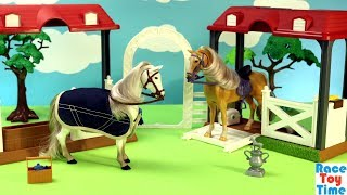Deluxe Horse Grooming Stable Playset For Kids