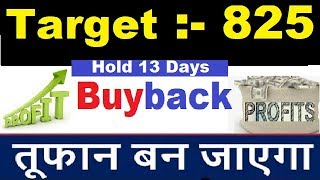 Latest Buyback News Just Hold 13 Days Get Target 825 ...