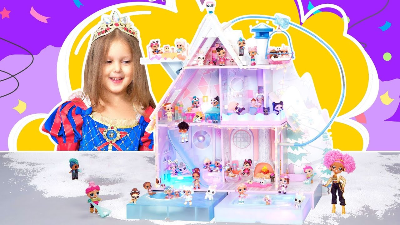 Амелька стала Принцессой и хочет новый дом для свои кукол ЛОЛ!