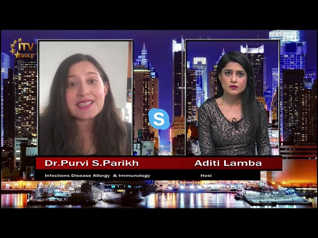 Dr. Purvi Parikh Addresses Coronavirus Pandemic Facts & Advice - ITV Gold Skype