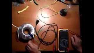 Измерение тока холостого хода трансформатора(, 2013-09-13T16:10:10.000Z)