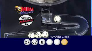 MegaMillions Drawing 11 09 2018