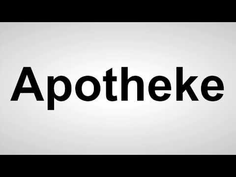 Apotheke - Deutsche Aussprache