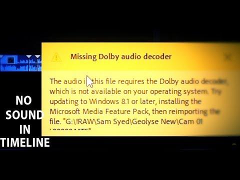 missing dolby audio decoder premiere pro cc 2018-2019