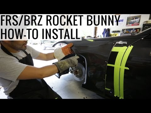 FRS / BRZ Rocket Bunny DIY Over Fender Comprehensive Install Guide