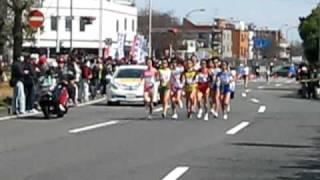 2009 名古屋国際女子マラソン 先頭集団 吹上① 藤永佳子 新谷仁美