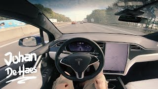 2018 Tesla Model X P100D POV test drive (0-100 km/h in 3,1 sec)