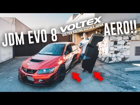 EVO 8 GETS VOLTEX CARBON FIBER REAR DIFFUSER & SIDESKIRTS!