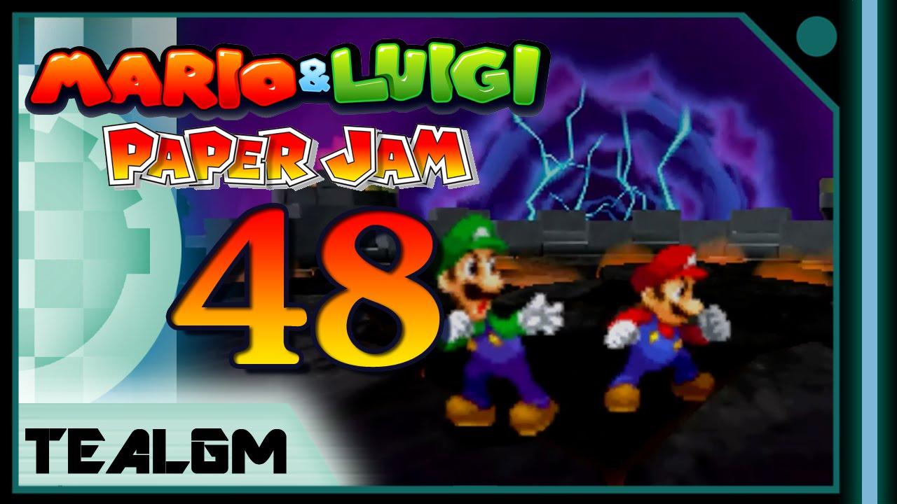 Mario Luigi Paper Jam Bros Part 48 Final Boss Ending Review Bowser With Paper Armour