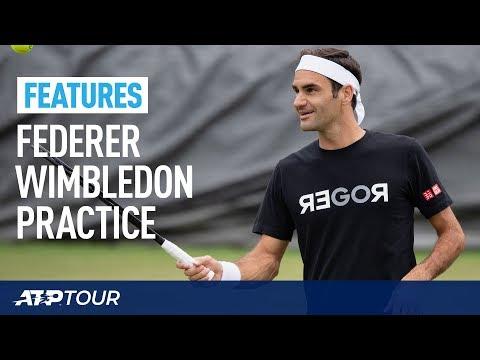 WIMBLEDON | Extended Roger Federer Practice Session 2019