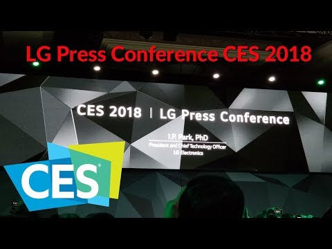 LG Press Conference CES 2018 - YouTubeTechGuy