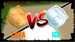 Lava vs Ice (LOW LEVEL) | Elemental Battlegrounds