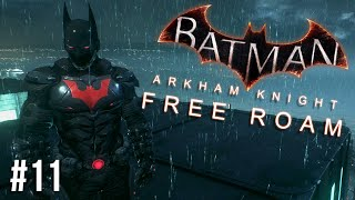 Batman Arkham Knight Free Roam Gameplay #12 - Batman Beyond Skin (Batman Arkham Knight)