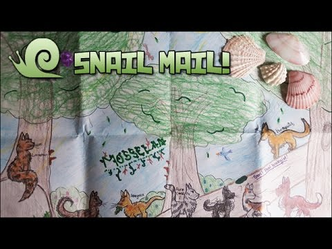 Gems, Shells, and Warrior Cats!! || Snail Mail Vlog!