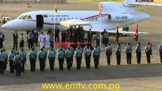Prince Andrew, the Duke of York arrives in Papua New Guinea