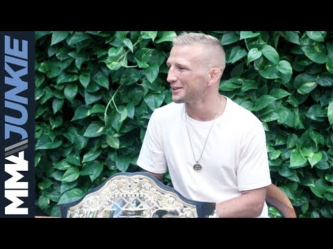 UFC 227: T.J. Dillashaw media lunch in Los Angeles