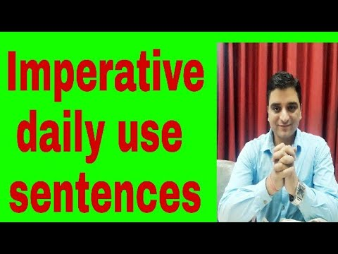 Learn Imperative and speak daily basis small sentences