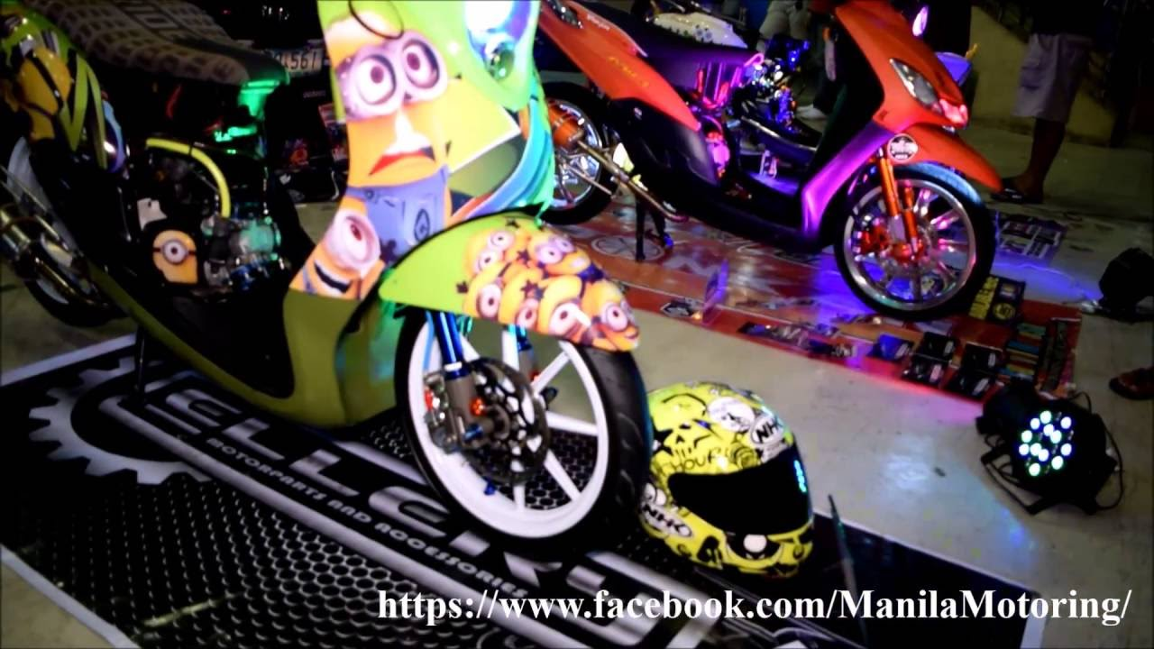 Customized Yamaha Mio Scooter Cute Minion Setup YouTube - Mio decalsyamaha mio sporty sticker decals for motorcycle cebu philippines