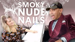 SMOKY NUDE NAILS (ACRYLIC NAILS WITH MISSION CONTROL) - VLOG 101