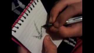 How to Draw:A pot leaf