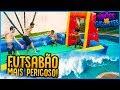 ANÕES VS GIGANTES: FUTSABÃO MAIS PERIGOSO!! ( DEU RUIM ) [ REZENDE EVIL ]