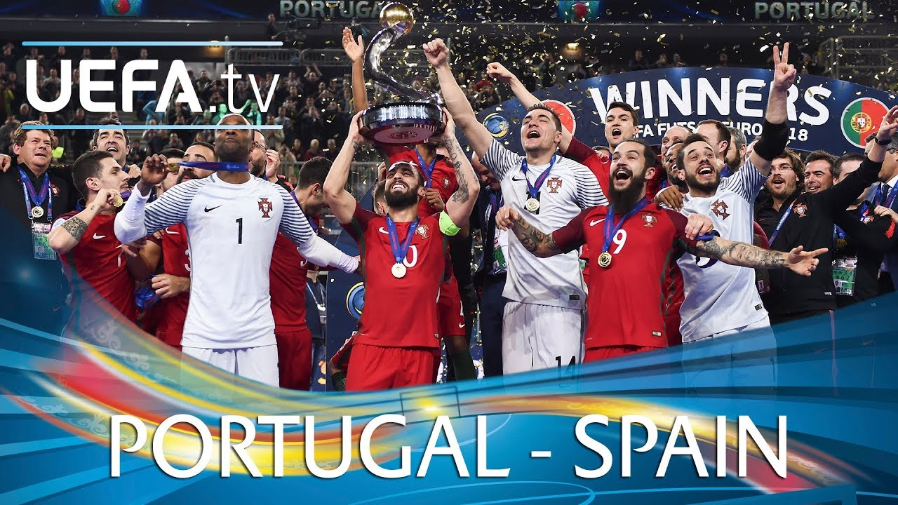 Futsal Euro 2018 Final Highlights Portugal V Spain Youtube