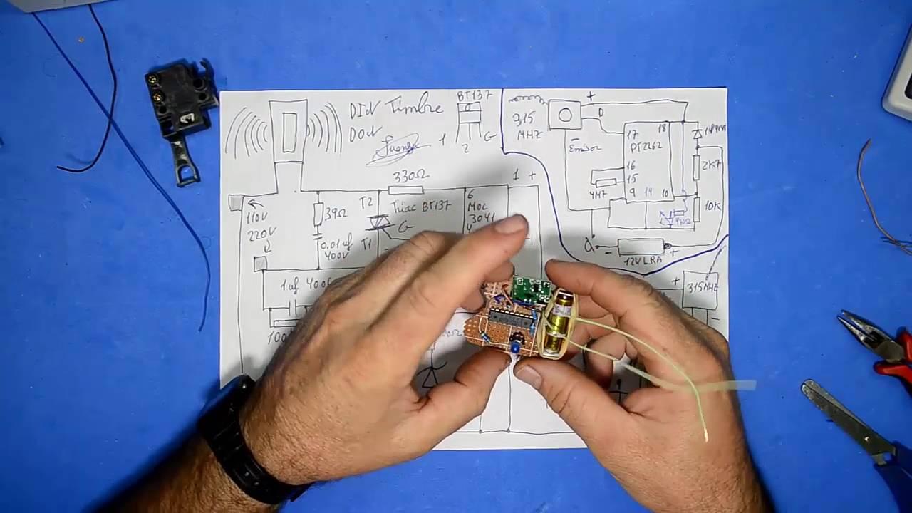 Circuito Bluetooth Casero : Increible timbre inalambrico 1 emisor 2 receptores casero youtube